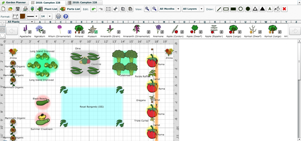 Garden Planner Layout,, seed start, Sally Needs a Hobby